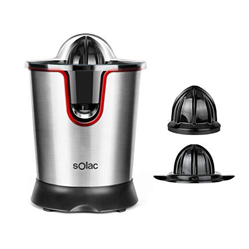 Solac Stillo 300 - Exprimidor de inox de 300 W con motor AC, con tapa presionable y desmontable, filtro de inox