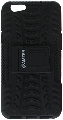 AMZER Impact Resistant Hybrid Warrior Skin for Oppo F1S - Black