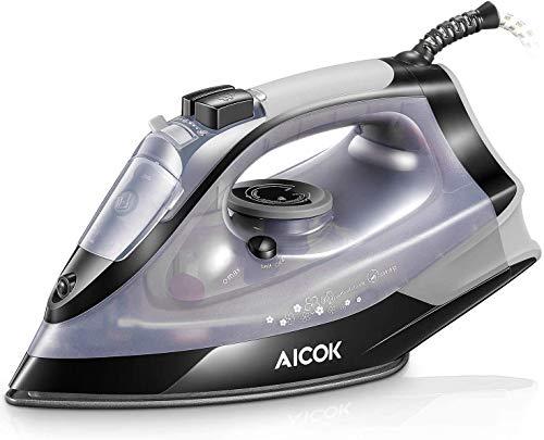AICOK Plancha Ropa, Plancha de Vapor 2200W con Anti-Escala,