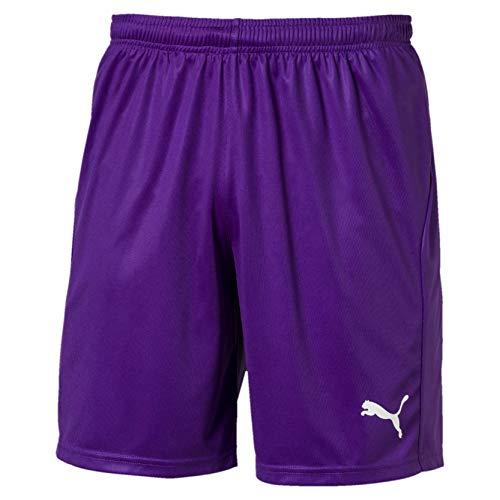 PUMA Herren Liga Shorts Core with Brief Hose, Prism Violet White, L