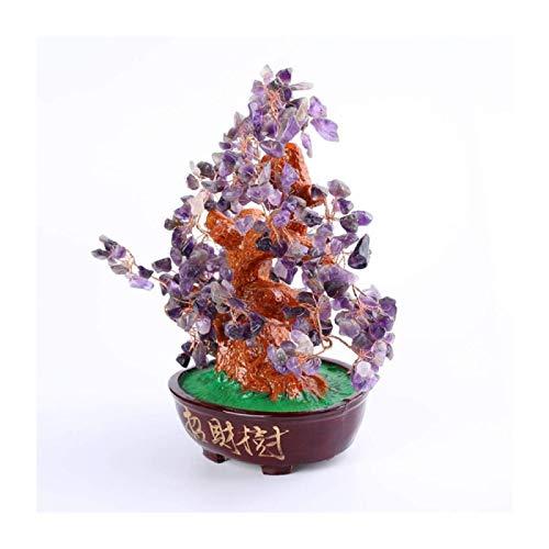 ZHANG Piedras Preciosas Bonsai Tree Crystal Tree Amatista Crystal Tree Resina Base Bonsai Money Tree Craft Regalos De Apertura