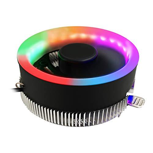 Blesiya Ordenador LED Colorido Ventilador Enfriador de CPU Ventilador de refrigeración disipador de Calor de Escritorio radiador silencioso Ajuste Desmontable