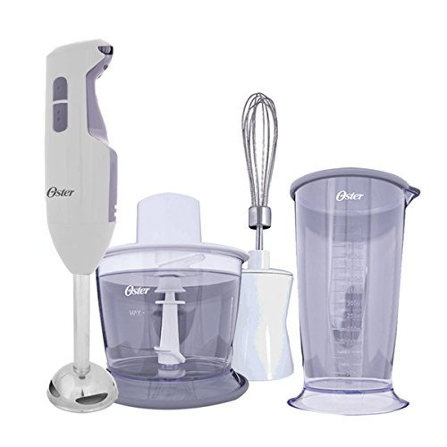 Oster Versatile Turbo Function Stick Mixer Hand Blender - 250 Watt - Turbo function - Stainless Steel Shaft and Blade - Include Whisk Attachment