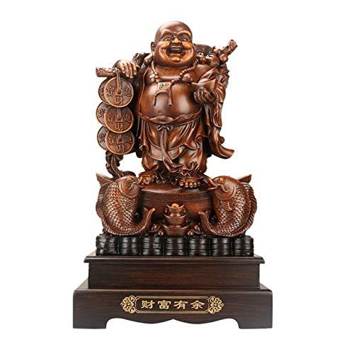 kerryshop Estatua Dragon Turtle Riendo Estatua de Buda, Resina Escultura de Arte Moderno, Adornos de Muebles para el hogar de Alta Gama, Dios de la Estatua de Regalo de la Riqueza Estatua de Buda