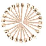 Cucchiaio Miele Legno,50 PCS Mini Miele Bastoncini Marmellata di Miele Barattolo Piccoli Nutella Dispenser per Raccolta di Sciroppo di Miele Melassa Caffè Latte Tè 3 Pollici