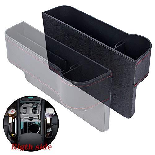 Gxhong Scatola Portaoggetti per Seggiolino Auto, Car Seat Gap Storage Organizer Tasche a Fessura della Sedile Car Seat Gap Filler Pocket Vano Organizer per Sedile Auto- Destra