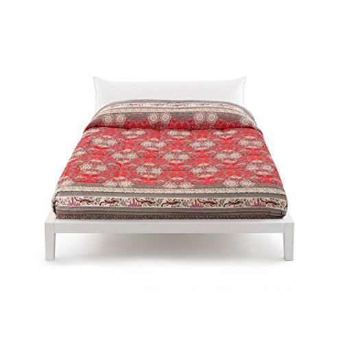 LOTO VAR.1 quilt red double bed 260 x 260 cm - Bassetti grandfoulard