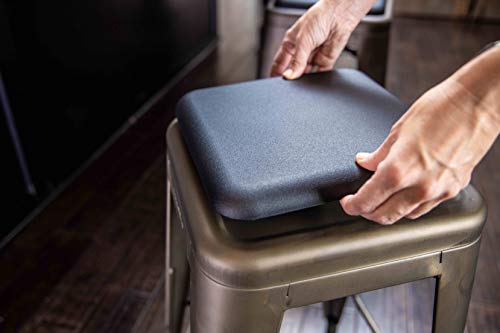 Fusion-The Magnetic Stool Cushion, Pads, Seat, Stackable for Indoor/Outdoor Metal Bar stools or Kitchen Chairs, Fits Industrial/Modern/Farmhouse Type Chair and Stools.Made in The USA
