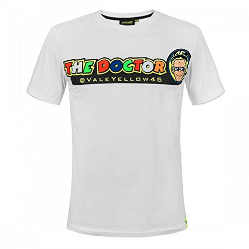 Valentino Rossi Vrmts305506002, T-Shirt, Vr46,The Doctor Hombre, Blanc