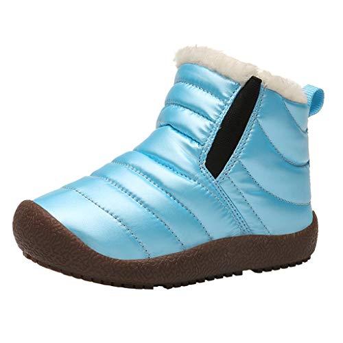 ZOREFINE ♥ Otoño e Invierno, niña bebé más Zapatos de algodón cálido de Terciopelo Botas de Nieve Deportivas (3.5-11.5T) (Edad: 4-4.5 AÑOS, Azul)