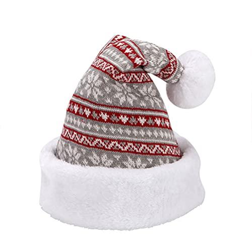 Bozaap Cappello a Cuffia di Natale, Cappelli da Elfo Lavorati a Maglia Caldi Invernali Decorazione per Cappelli per Feste di Natale per Feste di Capodanno di Natale
