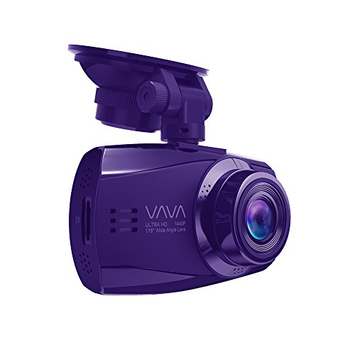 VAVA Dash Cam VA-CD007 with Ambarella A12 Processor for 1440P 30fps/ 1080P 60fps Footage, F1.8 Aperture 178 Degrees Wide Angle Lens