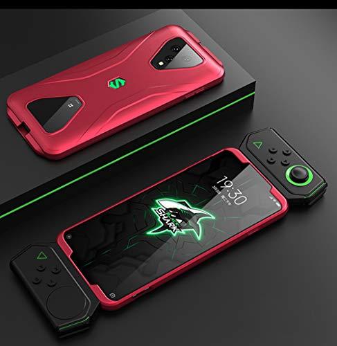 NOKOER Hülle für Xiaomi Black Shark 3, 3 in 1 All Inclusive Anti Fingerabdruck Handyhülle, 360 Grad Schutz Hülle [Ultra Slim] [Stoßdämpfung] Harte Schutzhülle - Rot