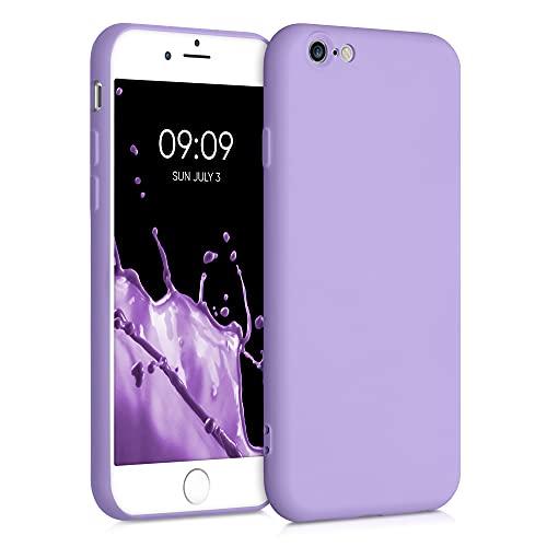kwmobile Custodia Compatibile con Apple iPhone 6 / 6S - Cover Silicone Gommato - Back Case Protezione Posteriore Cellulare - Lavanda Lilla