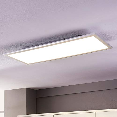 Lindby LED Panel ultra flach, 80 x 30 cm | LED Deckenleuchte inkl. 1 x 36 W LED Leuchtmittel A+ (fest verbaut), 230V, IP20 | Neutralweiß 4.000K