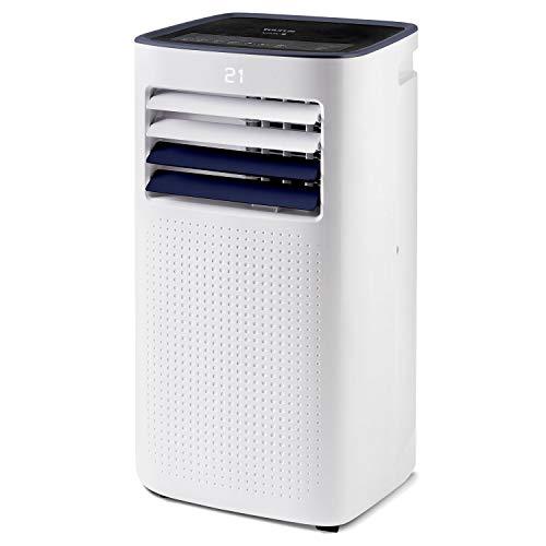 Taurus Cold Design + - Climatizzatore portatile. 3 in 1: freddo, deumidificatore e ventilatore. Silenzioso. Timer Con telecomando. Con kit finestra. Ruote. Bianca. 1023W.