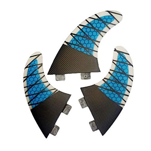 NKJH Fins surfen Blau Flossen Fin Set for Box G5 Größe Fiberglas Leistung Kern mit Carbon-M Größe Surf Fin Kapitän Ende Surfen Zwecke