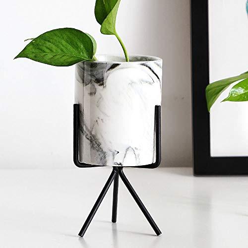 Gulin Marmor Dreieck-Blumentopf-Halter, Blumentopfständer aus Metall, Geeignet für Wohnzimmer Schlafzimmer Veranda