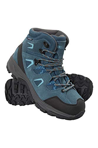 Mountain Warehouse Astronomy Womens Mid Boots - Ladies Hiking Shoes Blue Womens Shoe Size 8 US