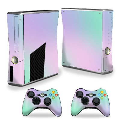 MightySkins Skin Compatible with X-Box 360 Xbox 360 S Console - Cotton Candy | Protective, Durable, and Unique Vinyl Decal wrap Cover | Easy to Apply, Remove, and Change Styles | Made in The USA
