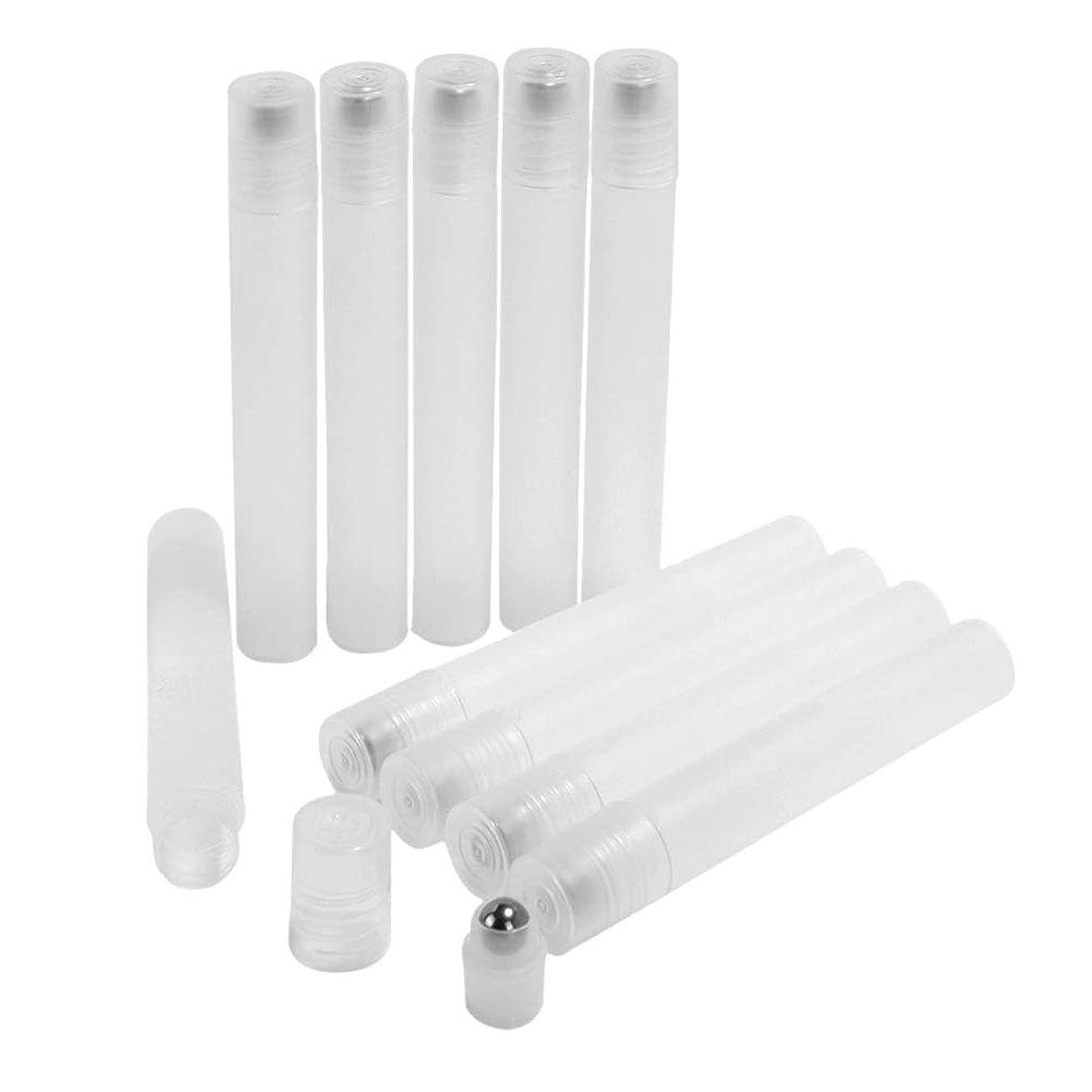 節約鳥したがってFrcolor ロールオンボトル 10ml ロールタイプ 精油 香水 小分け用 多機能 アロマボトル 保存容器 10本セット 透明