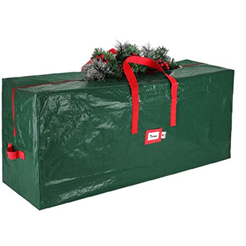 Christmas Tree Storage Bag with Handles Zipper Strong Durable Easy Store Large Green for Xmas Decorations