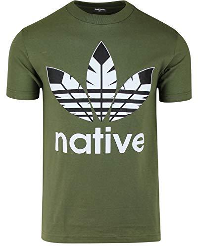 ShirtBANC Native American Mens Shirts Original Founding Fathers Shirts (Native Green, L)