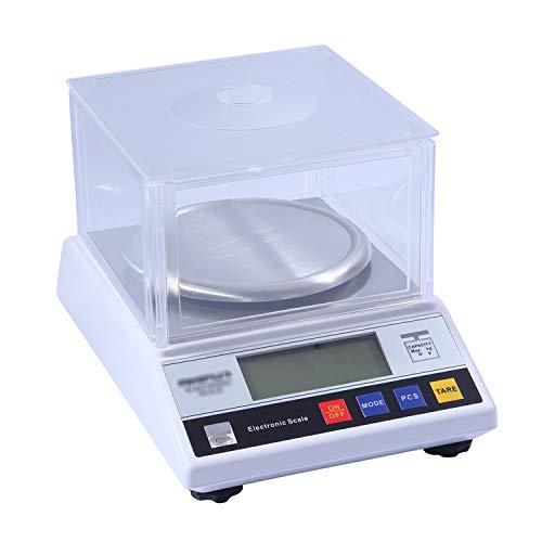 ZCXBHD 0.01g Escala analítica electrónica balanza precisión Multifuncional recuento Básculas LCD retroiluminado Parabrisas for la joyería Inicio Farmacia Cocina con un Peso (Size : 300g/0.01g)