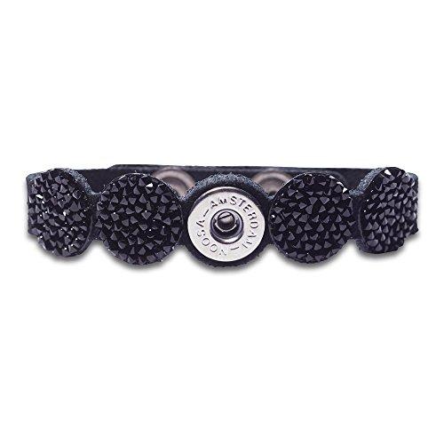 NOOSA PETITE Armband RAW ROMANCE CRYSTAL black Size M