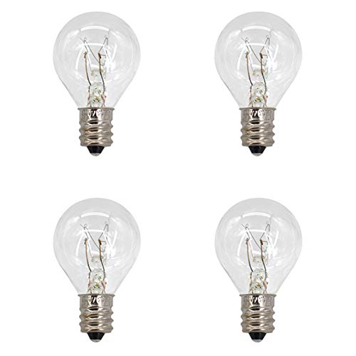 4 Pack Wax Warmer Bulbs,20 Watt Bulbs for Middle Size Scentsy Warmers,G30 Globe E12 Incandescent Candelabra Base Clear Light Bulbs for Candle Wax Warmer