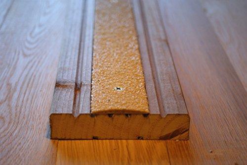 Bande convexe et antidérapante pour terrasse en bois Beige 1000 x 50 mm