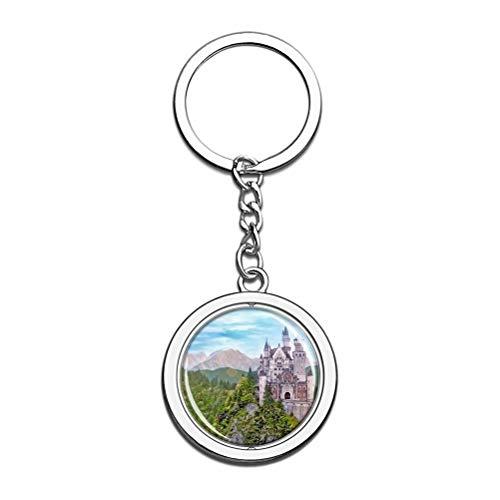 """""""N/A"""" Deutschland Neuschwanstein Schlüsselbund Einzigartige Kreativität Tourismus Souvenir Geschenk Spin Edelstahl Kristallkette"""