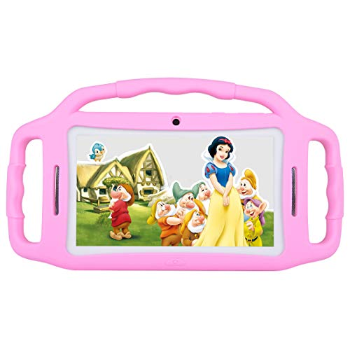 Kids Tablet Android 7.1, 7 Inch, HD Display, Quad Core, Children Tablet, 1GB RAM + 8GB ROM, with WiFi, Dual Camera, Bluetooth, Educational,Touch Screen Kid Mode,Parental Control (Pink)
