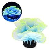 Hztyyier Plantas de acuarios Artificiales, pecera, Lechuga Fluorescente, simulación de Coral, Plantas Marinas, decoración de paisajismo de Acuario(#1)