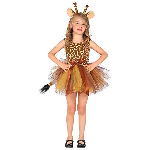Widmann 10361 - Kinderkostüm Giraffe, Kleid mit Tutu und Haarreif, Tier, Mottoparty, Karneval