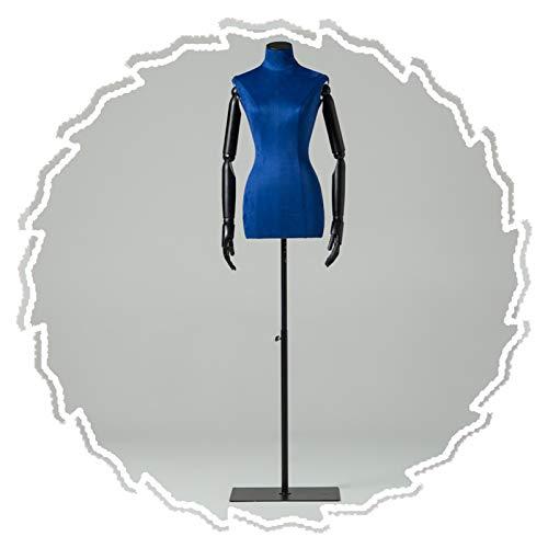 RZEMIN ZEMIN Maniquí de Costura, Forma Vestido Femenino con Base Hierro Forjado, Accesorios Modelo Altura Ajustable, Maniquí Sastre para Escaparate Tienda, 3 Colores (Color : A)