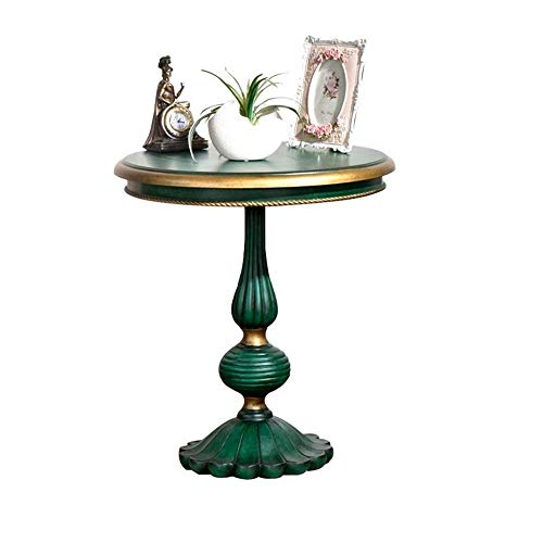 Coffee Table Round Side Table Vintage End Table Sofa Side kabinet nachtkastje for Living Eettafels coffee pot (Color : Green, Size : 60x60x66cm)