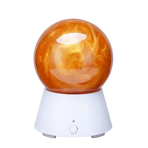 NC56 USB-Nachtlicht Kristallkugel Bluetooth-Lautsprecher Nachttisch Lampe Tischlampe Planet AtmosphäRe Lampe Liebhaber Geburtstagsgeschenk,Saturn-3W