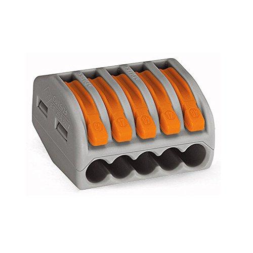 20x Wago 222-415 CLASSIC Verbindungsklemme - mit Betätigungshebel - 5-fach - Hebelklemme - Dosenklemme