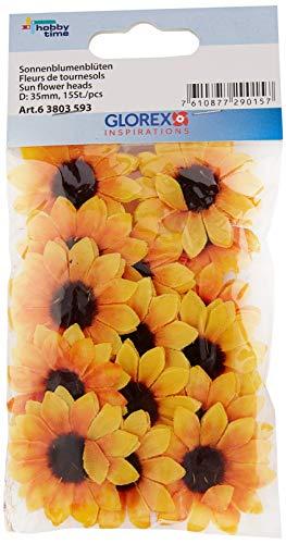 Glorex Sonnenblumenblüten 30-35mm 15 Stück