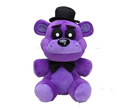 FNAF Toy Freddy Plushie Fazbear 25cm Toys Five Nights at Freddy's Golden Bear Nightmare Cupcake Foxy Balloon Boy Clown Stuffed Dolls FNAF Plushies… (Purple Bear)