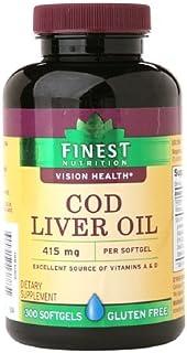 Finest Nutrition Cod Liver Oil Softgels 300 ea
