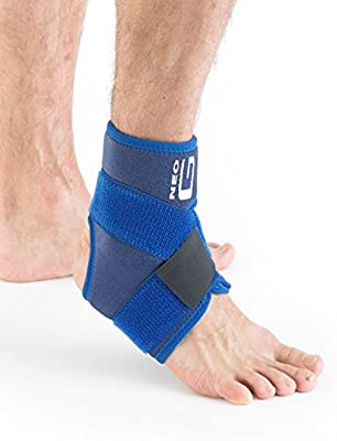 Neo G Ankle Brace, Figure of 8 Strap - Support for Arthritis Relief, Joint Pain, Ankle Injuries, Gymnastics, Basketball, Volleyball - Adjustable Compression - Class 1 Medical Device - 1 Size - Blue