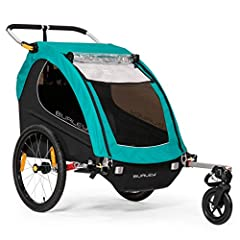 """Included 1-Wheel Stroller Kit enhances use with a quick transition from biking to strolling out of the box Suspension keeps kids comfortable by softening bumps and jostles 20"""" push button wheels are quick and easy to install and remove Height adjusta..."""