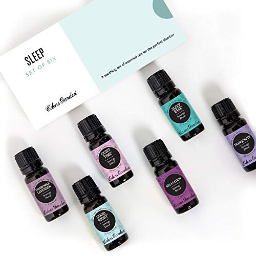 Edens Garden Sleep Essential Oil 6 Set, Best 100% Pure Aromatherapy Sleeping Kit (For Diffuser- Anxiety & Stress), 10 ml