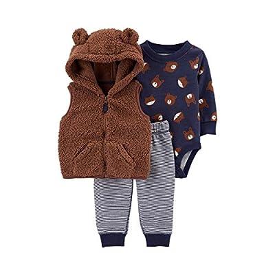 Carter's Baby Boys 3 Piece Little Vest Set (Bear) (3 Months)