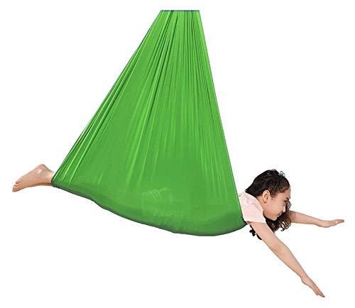 SHUHANG Sensory Swing Therapy Swing Cuddle - Hamaca para interior y exterior, transpirable, capacidad de carga (color: verde, tamaño: 600 x 280 cm)