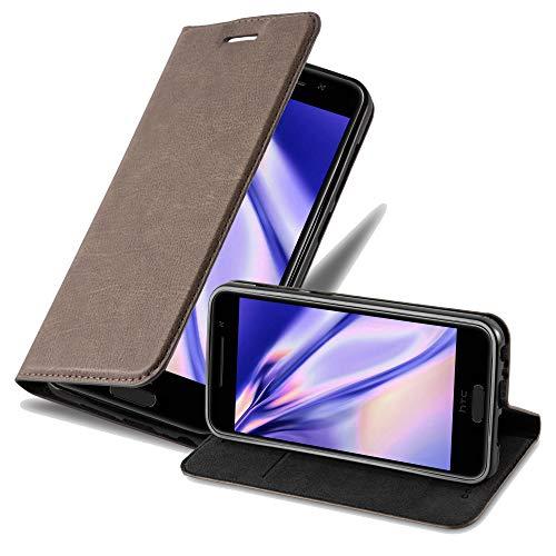 Cadorabo Hülle für HTC One A9 in Kaffee BRAUN - Handyhülle mit Magnetverschluss, Standfunktion & Kartenfach - Hülle Cover Schutzhülle Etui Tasche Book Klapp Style