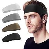 BF BAFLY Headbands for Men Sweat Band & Mens Headbands Sport for Running, Cycling, Yoga, B...