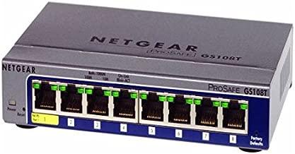 NETGEAR ProSafe GS108Tv2 Gigabit Smart Switch - 8 Ports - Manageable - 8 x RJ-45-10/100/1000Base-T (135533)